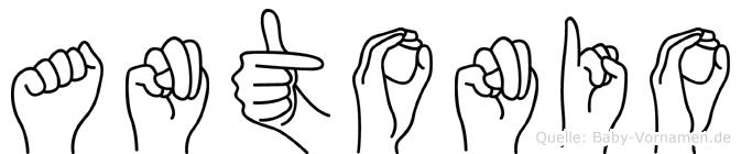 Antonio in Fingersprache für Gehörlose