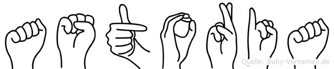 Astoria im Fingeralphabet der Deutschen Gebärdensprache