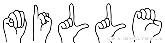 Mille im Fingeralphabet der Deutschen Gebärdensprache