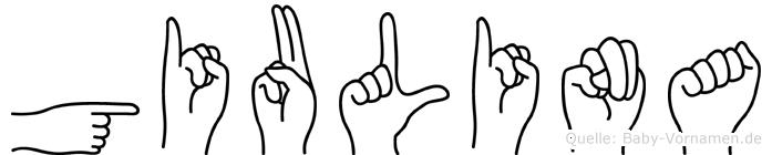 Giulina im Fingeralphabet der Deutschen Gebärdensprache