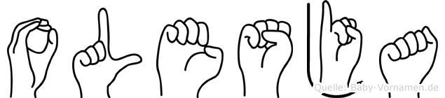 Olesja in Fingersprache für Gehörlose