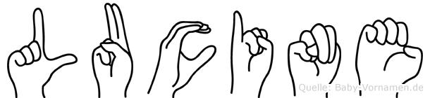 Lucine in Fingersprache für Gehörlose
