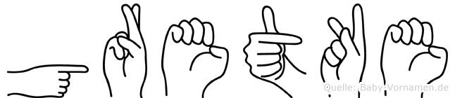 Gretke in Fingersprache für Gehörlose