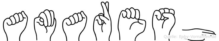 Amaresh im Fingeralphabet der Deutschen Gebärdensprache