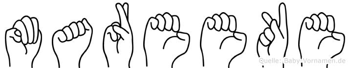 Mareeke in Fingersprache für Gehörlose