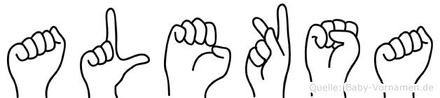Aleksa im Fingeralphabet der Deutschen Gebärdensprache