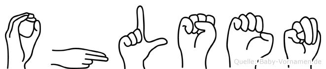 Ohlsen im Fingeralphabet der Deutschen Gebärdensprache
