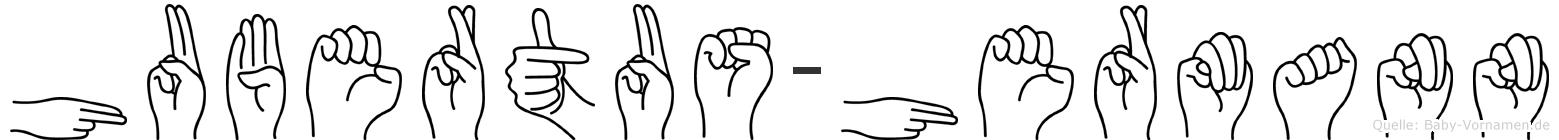 Hubertus-Hermann im Fingeralphabet der Deutschen Gebärdensprache