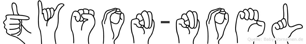 Tyson-Noel im Fingeralphabet der Deutschen Gebärdensprache