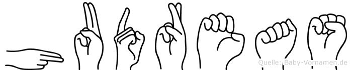 Hudreas in Fingersprache für Gehörlose
