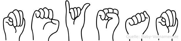 Meysam im Fingeralphabet der Deutschen Gebärdensprache