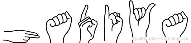 Hadiya im Fingeralphabet der Deutschen Gebärdensprache