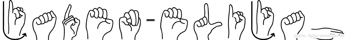 Jaden-Elijah im Fingeralphabet der Deutschen Gebärdensprache