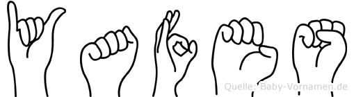 Yafes im Fingeralphabet der Deutschen Gebärdensprache
