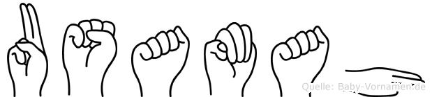 Usamah im Fingeralphabet der Deutschen Gebärdensprache