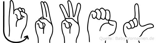 Juwel im Fingeralphabet der Deutschen Gebärdensprache