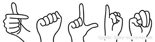 Talin im Fingeralphabet der Deutschen Gebärdensprache