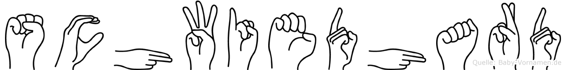 Schwiedhard in Fingersprache für Gehörlose