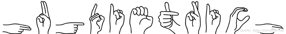 Hugdietrich in Fingersprache für Gehörlose