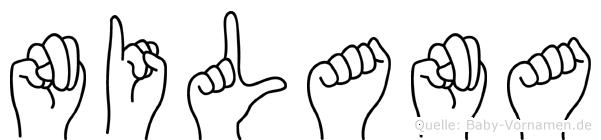 Nilana im Fingeralphabet der Deutschen Gebärdensprache