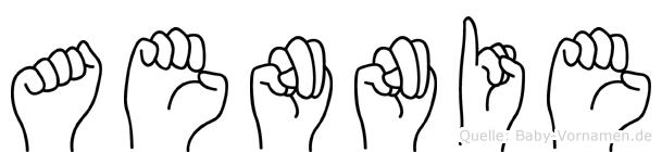Aennie im Fingeralphabet der Deutschen Gebärdensprache