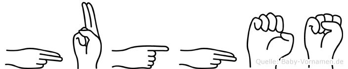 Hughes in Fingersprache für Gehörlose