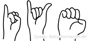 Iye in Fingersprache für Gehörlose