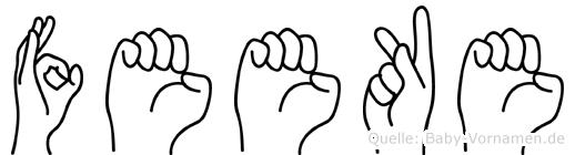 Feeke im Fingeralphabet der Deutschen Gebärdensprache