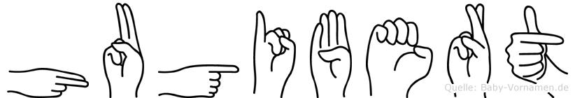 Hugibert in Fingersprache für Gehörlose