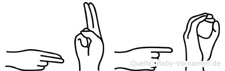 Hugo in Fingersprache für Gehörlose