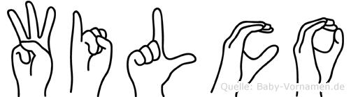 Wilco im Fingeralphabet der Deutschen Gebärdensprache