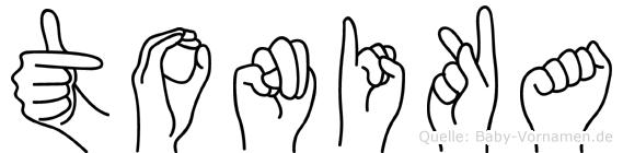 Tonika im Fingeralphabet der Deutschen Gebärdensprache