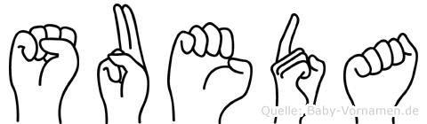 Sueda im Fingeralphabet der Deutschen Gebärdensprache