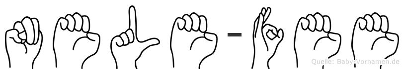 Nele-Fee im Fingeralphabet der Deutschen Gebärdensprache