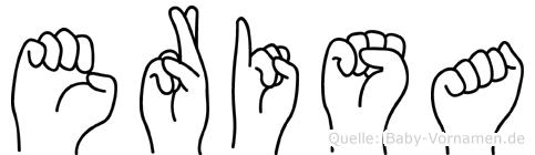 Erisa im Fingeralphabet der Deutschen Gebärdensprache