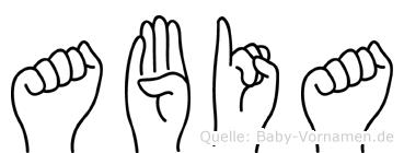 Abia in Fingersprache für Gehörlose