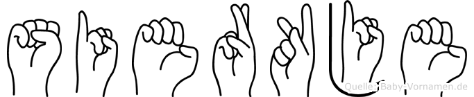 Sierkje im Fingeralphabet der Deutschen Gebärdensprache