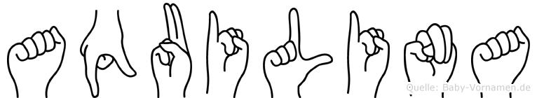 Aquilina im Fingeralphabet der Deutschen Gebärdensprache