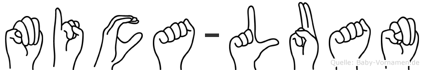 Mica-Luan im Fingeralphabet der Deutschen Gebärdensprache