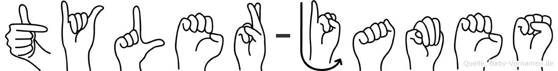 Tyler-James im Fingeralphabet der Deutschen Gebärdensprache