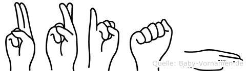 Uriah im Fingeralphabet der Deutschen Gebärdensprache