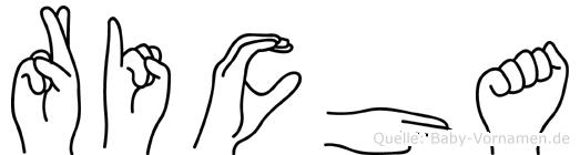 Richa in Fingersprache für Gehörlose