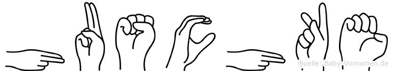 Huschke im Fingeralphabet der Deutschen Gebärdensprache