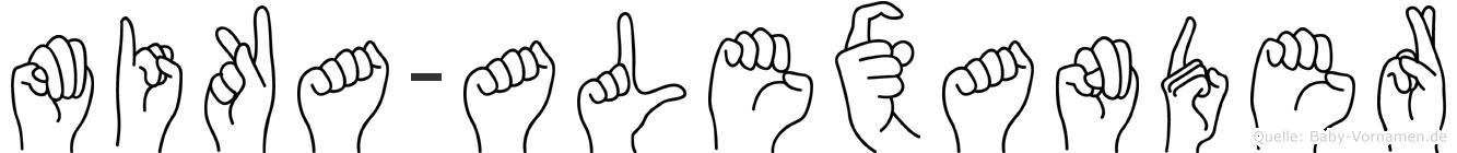 Mika-Alexander im Fingeralphabet der Deutschen Gebärdensprache