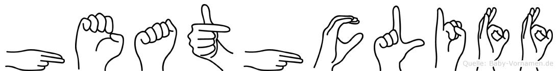 Heathcliff im Fingeralphabet der Deutschen Gebärdensprache