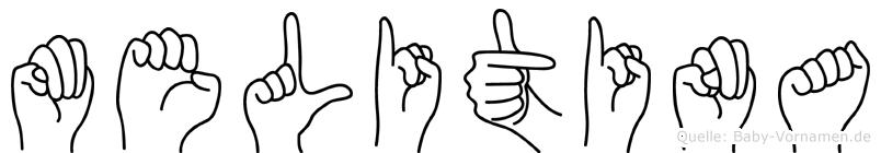 Melitina in Fingersprache für Gehörlose