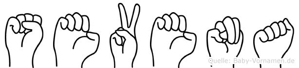 Sevena in Fingersprache für Gehörlose