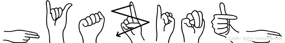 Hyazinth im Fingeralphabet der Deutschen Gebärdensprache