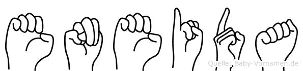 Eneida im Fingeralphabet der Deutschen Gebärdensprache