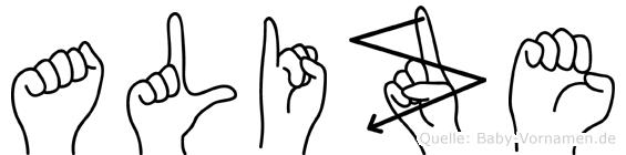 Alize in Fingersprache für Gehörlose